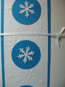 Modro-bela kombinacija - snežinke